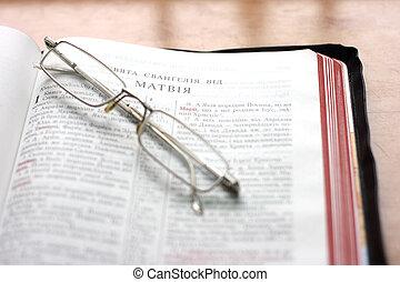 biblia, otwarty