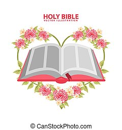 biblia santa, diseño