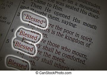 biblia, tekst, błogosławieństwa