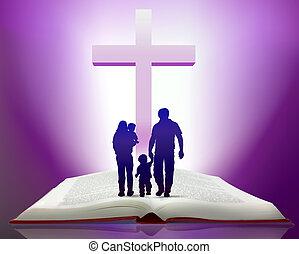 biblia, y, familia
