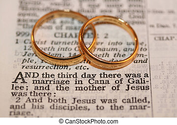 biblia, złoty, bandy, dwa, wiersz, ślub