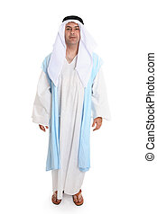 Biblical man - Man in ancient clothing reminiscent that worn...