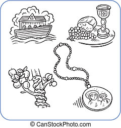 Biblical scene  - vector illustration.
