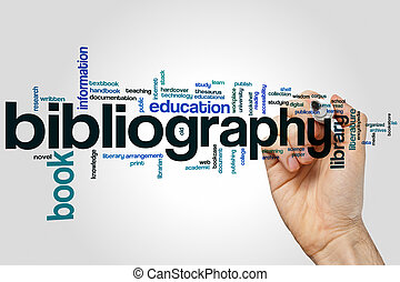 Bibliography concept word cloud background