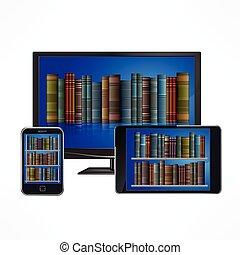 biblioteca electrónica, dispositivos