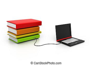 biblioteca, internet