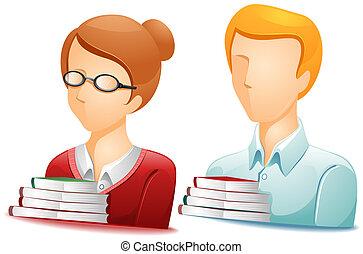 bibliotecario, avatars
