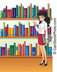 bibliotecario, estantería