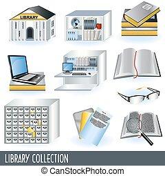 bibliotek, kollektion