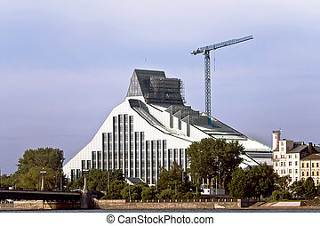 bibliothèque, bâtiment