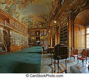 bibliothèque, baroque