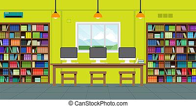bibliothèque, lecteurs