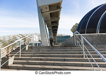 Bibliotheca Alexandrina - The stairs to new library in...
