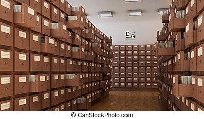 bibliotheek, boekenkast, vlieg, pagina's, 3d, cg