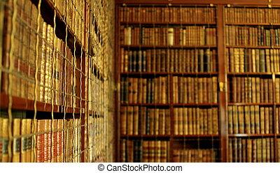 bibliotheek, boekenkasten