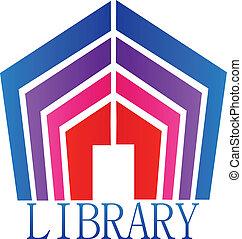 bibliotheek, boekjes , logo