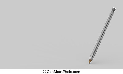 Bic, Transparent plastic ball pen on white background, 3d ...