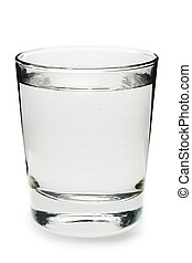 bicchiere acqua, bianco, fondo