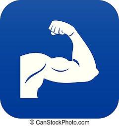 Biceps icon digital blue