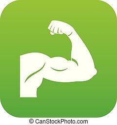 Biceps icon digital green