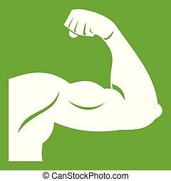 Biceps icon green