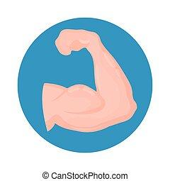 biceps icon. isolated on white background.