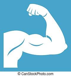 Biceps icon white