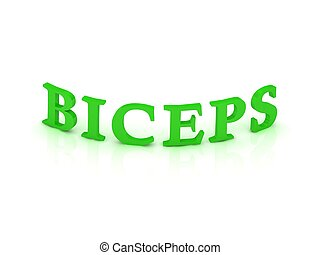 BICEPS sign with green word