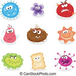 bichos, y, microbios, yo