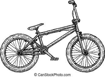 bici del bmx, ilustración