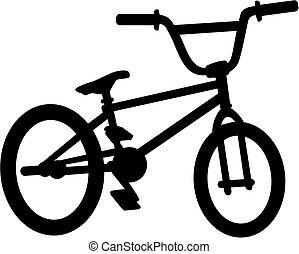 bici del bmx, silueta