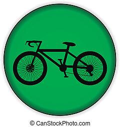 bicicleta, ícone, ligado, redondo, internet, botão