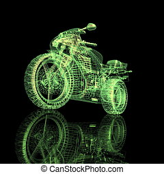 bicicleta, 3d, deporte