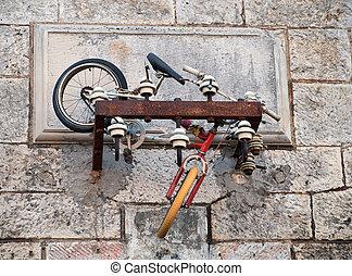 bicicleta, abandonado