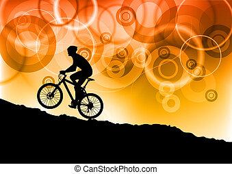 bicicleta, abstratos
