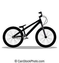 bicicleta, aislado, bmx