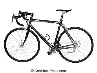 bicicleta, aislado, camino