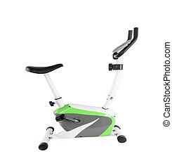 bicicleta, aislado, ejercicio