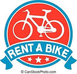 bicicleta, aluguel, etiqueta