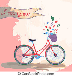 bicicleta, amores, usted