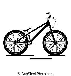 bicicleta, antigüedad, aislado, bmx