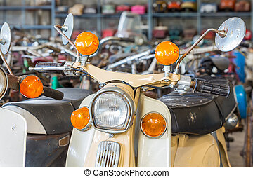 bicicleta, antigas, motor