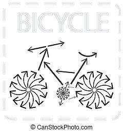 bicicleta, arrowed
