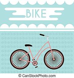 bicicleta, bandera, promocional
