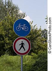 bicicleta, caminho