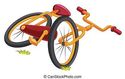 bicicleta, chão
