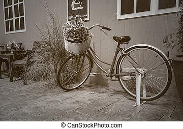 bicicleta, con, flores