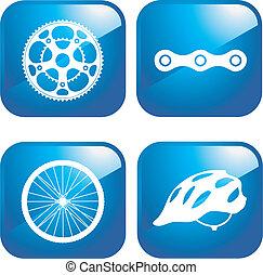 bicicleta, conjunto