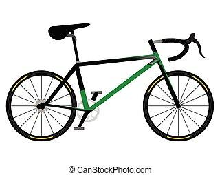 bicicleta correndo, ícone