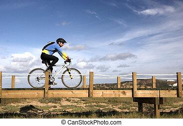 bicicleta de equitación